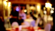 Blurred background : Customer at restaurant with bokeh video