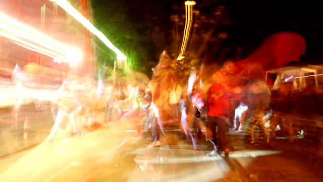 blurred dancing audience video