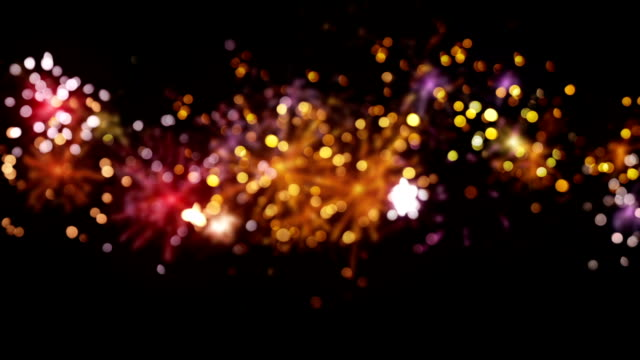 blurred fireworks seamless loop background video