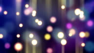 blurred glowing bokeh lights loop background video