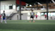 Blurred image of a football field, use for background. video