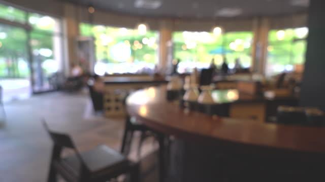 blurred in coffee shop video