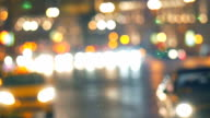 Blurred lights of city and transport video