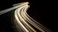 Blurred Los Angeles traffic timelapse at a highway off-ramp video