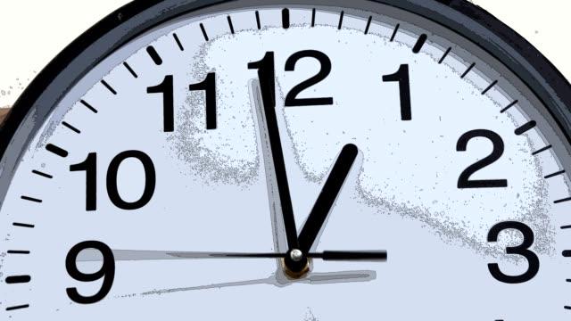 ANIME: blurred modern clock time lapse [006] video