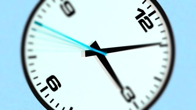 blurred modern clock time lapse [013] video