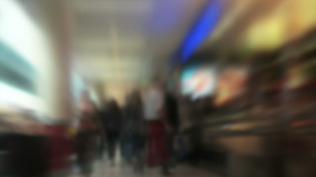 Blurred People in Shopping Mall (Loopable Time Lapse) video