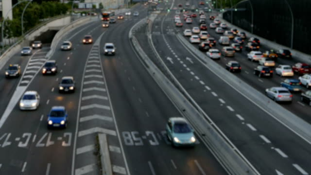 Blurred urban traffic scene. video