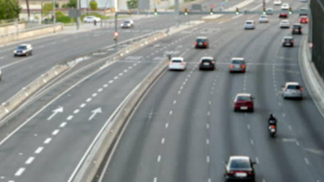 Blurred urban traffic scene.Time Lapse. video