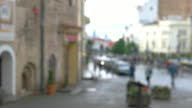 Blurred view of a street. video