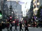 Blurred Winter / Holiday Shoppers video