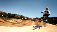 HD SLOW MOTION: Bmx Rider Racing On The Track video