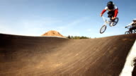 HD SLOW MOTION: Bmx Riders Jumping On The Track video