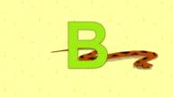Boa. English ZOO Alphabet - letter B video