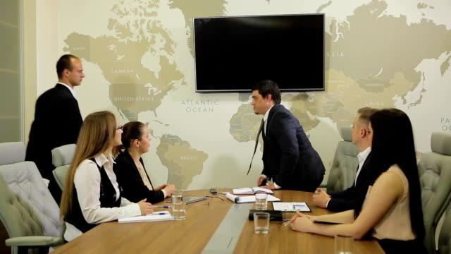 Board Meeting In Modern Office video
