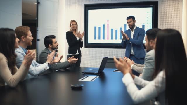 Board room meeting. video