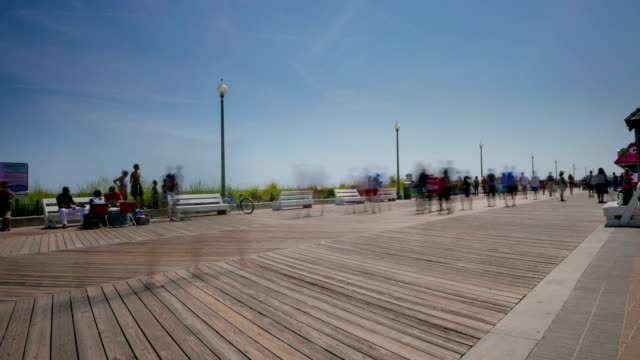 Board walk beach time lapse video
