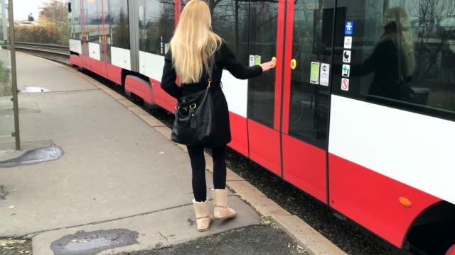 Boarding the tram video