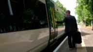 Boarding train video
