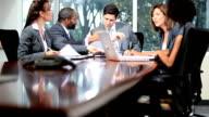Boardroom Meeting Successful Multi Ethnic Business People video