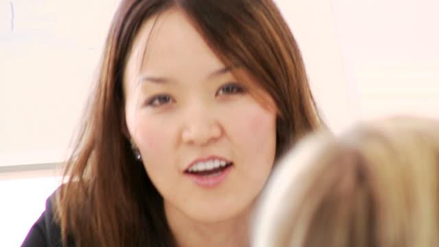 Boardroom office staff business scene video