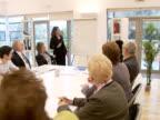 Boardroom team meeting video