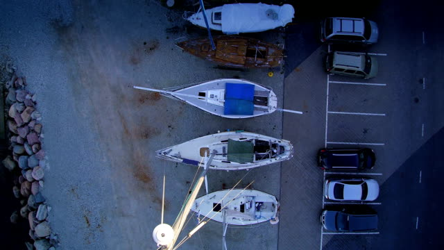Boat and cars parked on the Maritime museum video