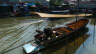 Boat at Amaphawa floating market ,Most Popular Floating Market in Ratchaburi,Thailand video