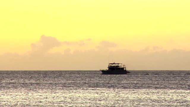 HD: Boat crosses the ocean video