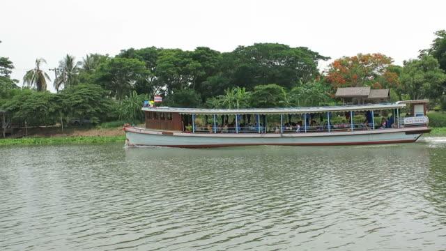 Boat in Bang Pakong River,Thailand video