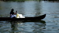 Boat in the Backwaters: Kerala, India video