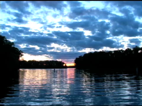 Boat Landing Sunset Timelapse NTSC video