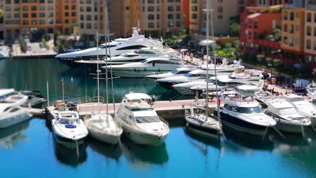 Boat Marina Tilt-Shift In Monaco video