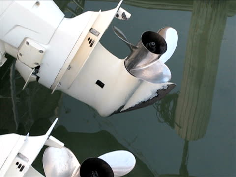 Boat propellers and reflections on the water video