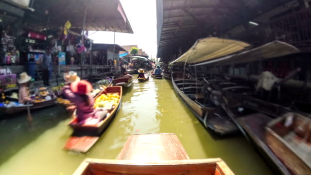 Boat Ride Time Lapse Thailand Market video