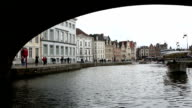 HD: Boat riding in Ghent ancient town Belgium video