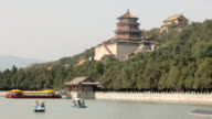 boat tour in summer palace Yiheyuan in Chinese video