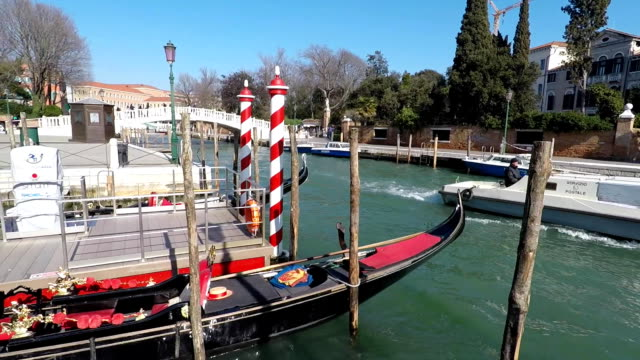 Boat traffic on Canal in Venice, Italy video