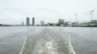 Boat travel on the Chao Phraya river video