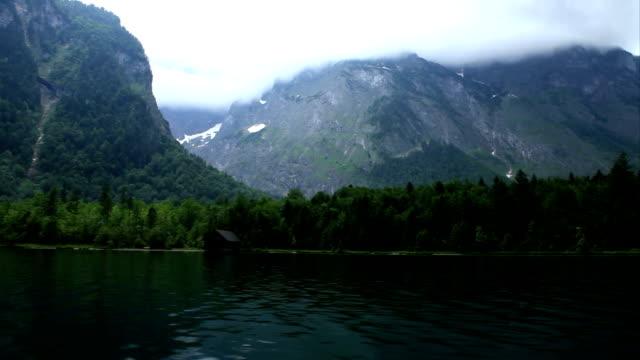 boat trip on an alpine lake video