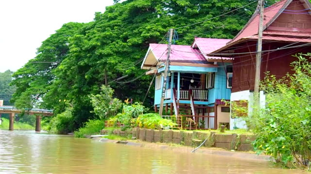 Boat Trip On Ayuthaya River , Thailand video