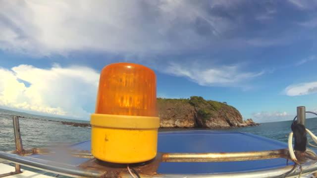 Boat warning siren light - Emergency services video