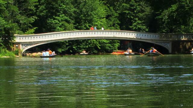 Boats and Bow Bridge HD video