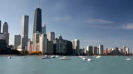 Boats and Chicago Skyline video