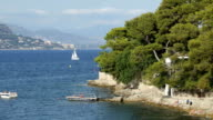 Boats in a beautiful bay, Saint-Jean-Cap-Ferrat, French Riviera, France video