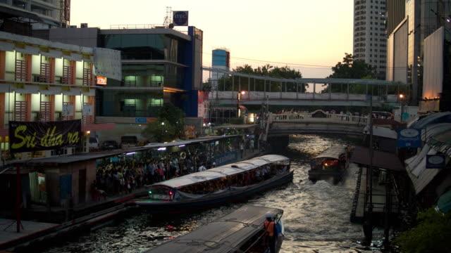 Boats in Bangkok video