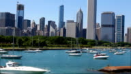 Boats in Chicago Downtown's Marina, HD 1080p video