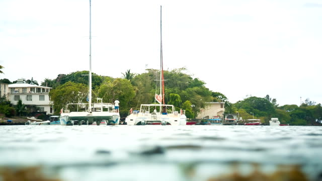boats in mauritian river video