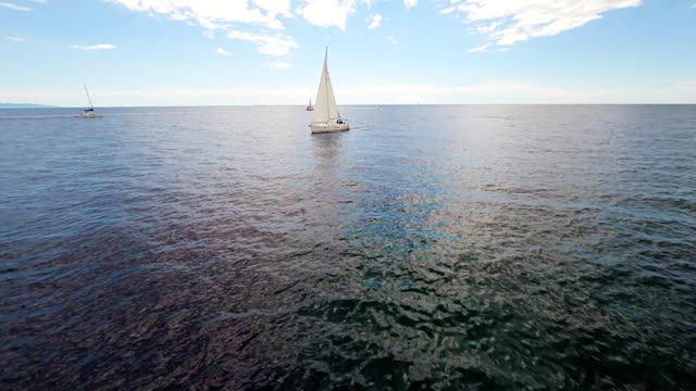 AERIAL Boats In The Adriatic Sea video