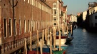 Boats In Venice Canal video